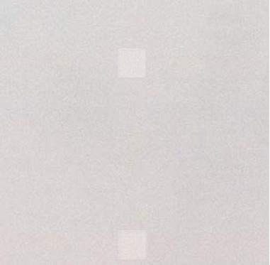 2㎜以上膜厚がつくと黄色の線が消え、白い四角が薄く残る状態。